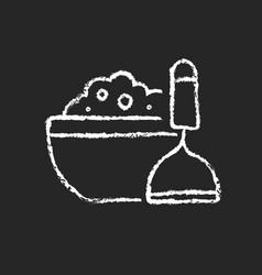Mash potato chalk white icon on dark background vector