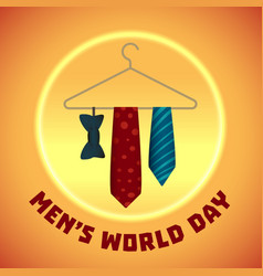 men world day concept background cartoon style vector image