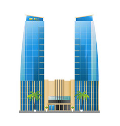 modern hotel building skyscrapers towers vector image
