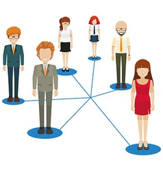 Network of people vector image
