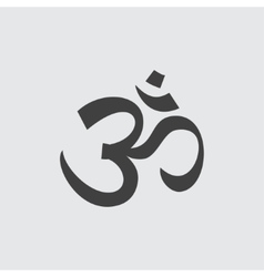 Om sign icon vector