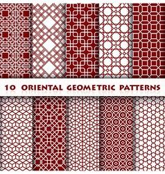 Oriental Geometric Pattern Style vector
