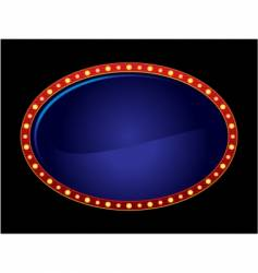 oval neon vector image