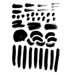 painted grunge stripes set handmade design vector image