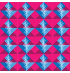 Pink and blue square seamless pattern blackground vector