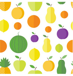 Seamless pattern fruits and berries vector