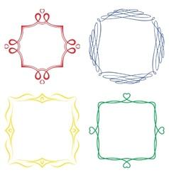 Set nice decorative frames vector