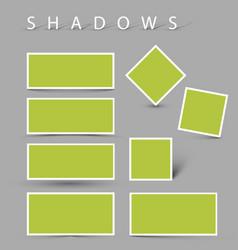 Set shadow effects vector