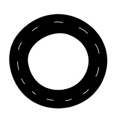 Silhouette vehicle tire of rubber wheel design vector