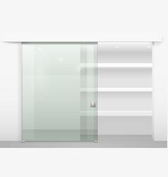 sliding door wardrobe vector image