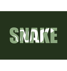 Snake silhouette reptiles in text long vector
