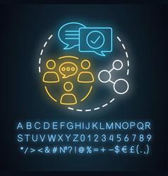 Social life neon light concept icon interpersonal vector