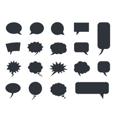 speech bubble icons set comic dialog vector image