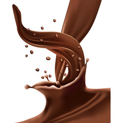 Splash of chocolate vector