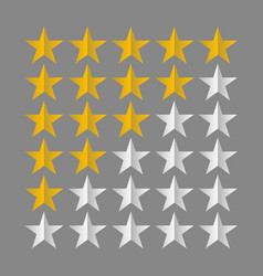 Star rating symbols vector