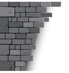 Stone block background vector