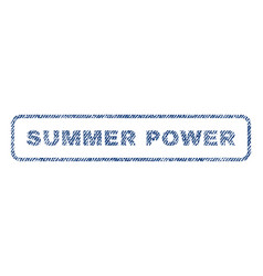 Summer power textile stamp vector