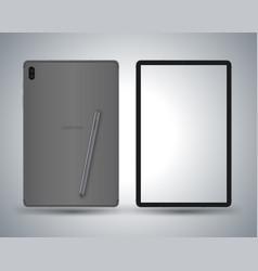 tablet mockup vector image