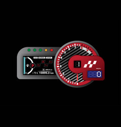 tachometer racing and speedometer with lcd vector image