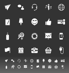 Technology gadget screen icons on gray background vector