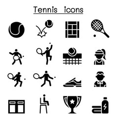 Tennis icon set graphic design vector