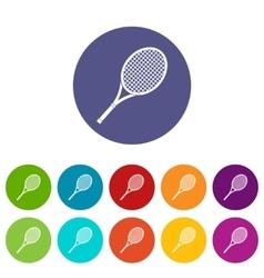 Tennis racket set icons vector