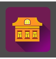 Three windows house icon flat style vector image