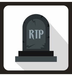 Tombstone icon in flat style vector