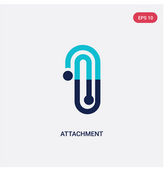 Two color attachment icon from education 2 vector