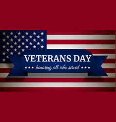 usa veterans day concept background realistic vector image