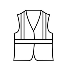 Vest icon outline style vector