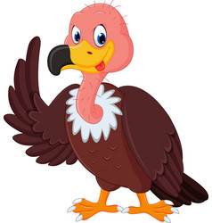 vulture cartoon vector image