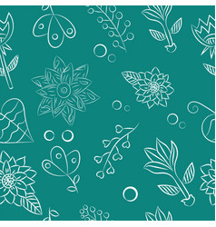 White floral elements vector