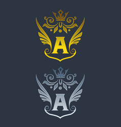 wings letter a logo initial a wings logo template vector image