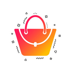 woman bag icon female handbag sign symbol vector image