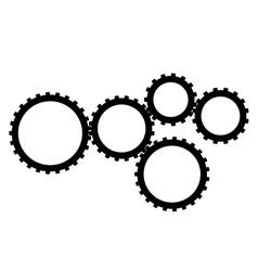 five gear vector image vector image