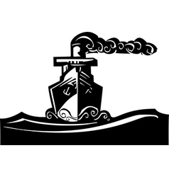 Steam Ship vector image vector image