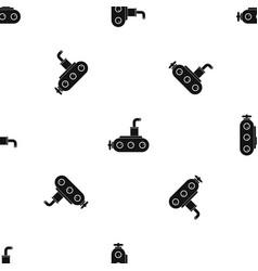 submarine pattern seamless black vector image