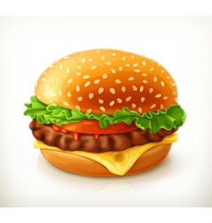 Hamburger icon vector image vector image