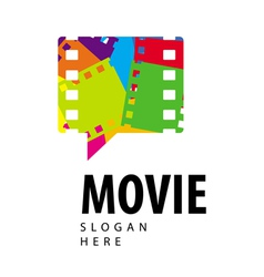 Logo colored film in the form of a bubble vector