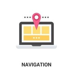 navigation icon concept vector image