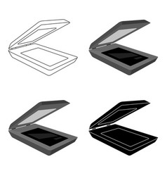 scanner icon in cartoon style isolated on white vector image vector image