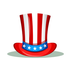 Uncle sam hat for the 4th of july usa vector