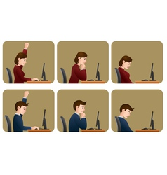 at work vector image