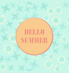 hello summer poster pastel summer party design vector image