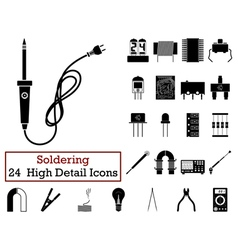 Set of 24 Soldering Icons vector image