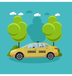 Taxi service company concept banner people vector