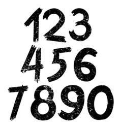 digital number vector image vector image