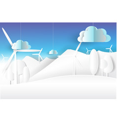 eco environment nature white and blue skypaper vector image vector image