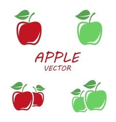 flat apple icons set vector image